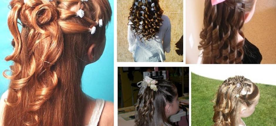 Peinados para primera comunion con ondas