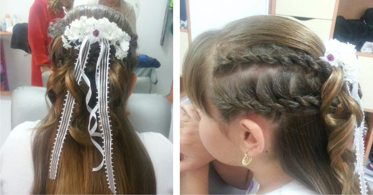 Peinados con monos para primera comunion