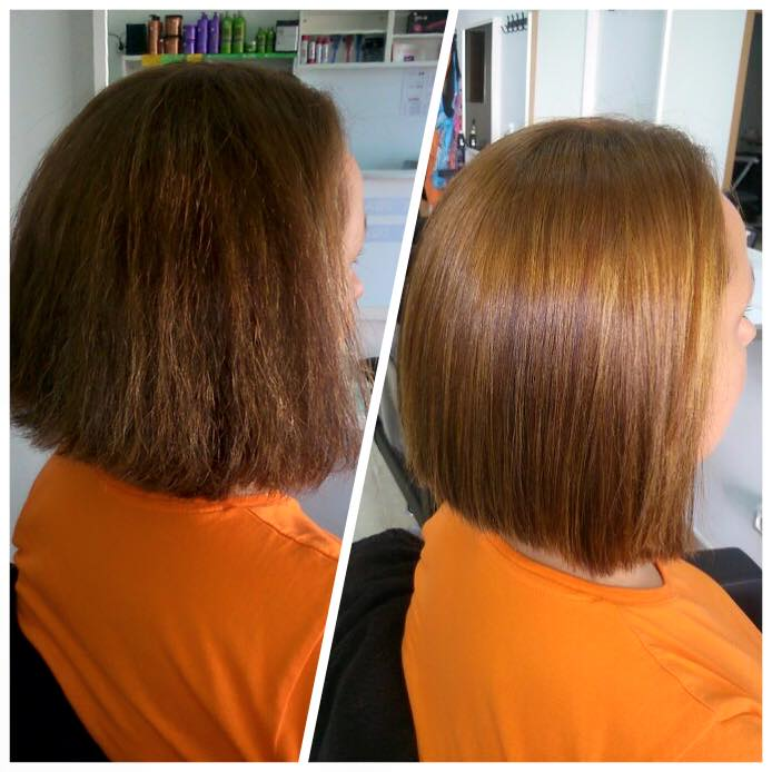 Cambio de look alisado de keratina