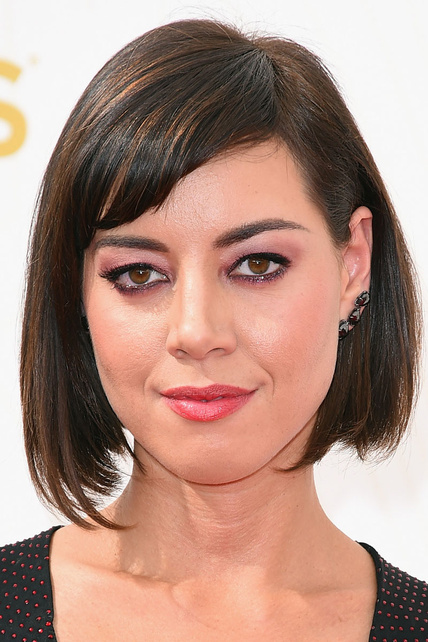 Flequillo lateral Aubrey Plaza