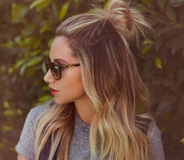 Half up bun peinados para Bad Hair Days