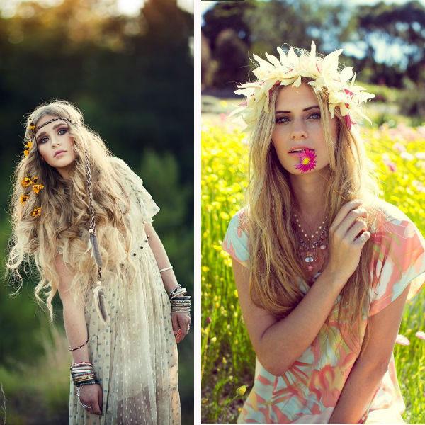 Melenas folk cortes de pelo de moda en otoño
