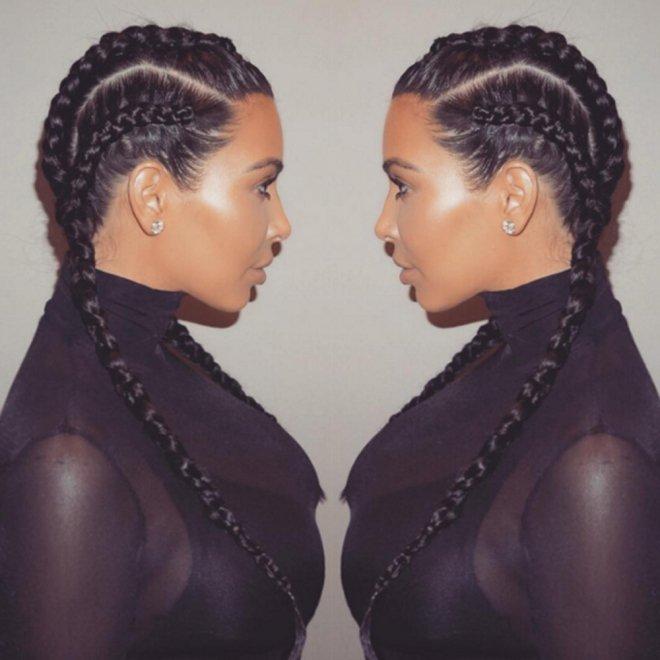Kim kardashian boxer braids