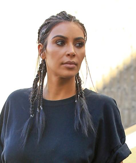 Piercings para el pelo Kim Kardashian