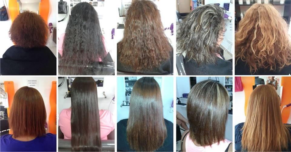 Alisado de keratina para el pelo