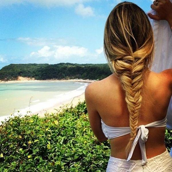 Trenza de espiga - Peinados para ir a la playa