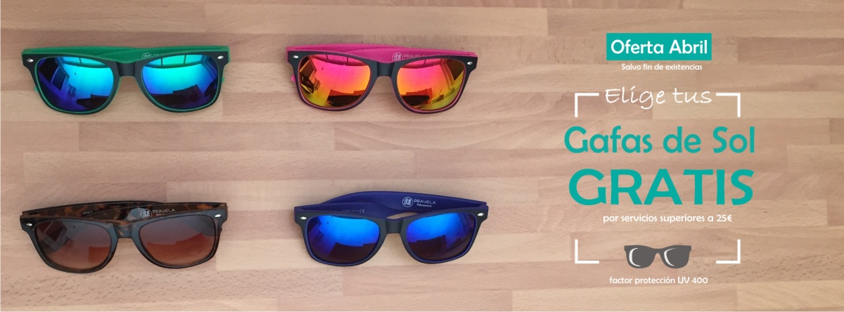 Gafas de sol gratis