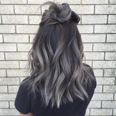 Mechas grises ombre