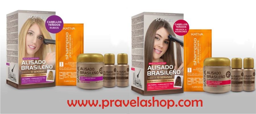 Kativa Alisado Brasileño Keratina y Argan para cabellos rubios, negros o marrones
