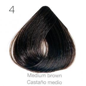 Tinte de pelo Sergilac con Keratina y Argan 4 Castaño natural 120ml - sin PPD
