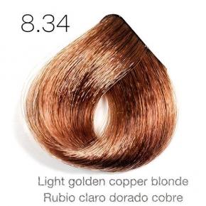 Tinte de pelo Sergilac con Keratina y Argan 8.34 - Color Rubio claro dorado cobre 120ml