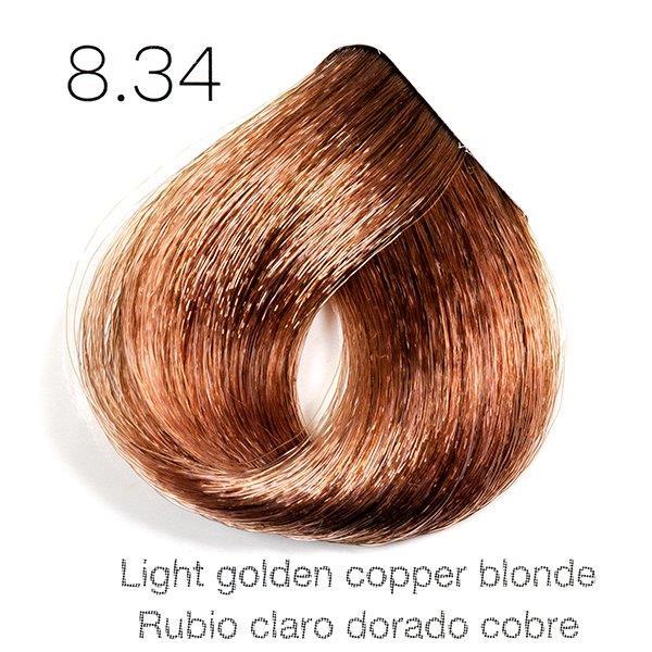 Tinte de pelo Sergilac con Keratina y Argan 8.34 Rubio claro dorado cobre 120ml