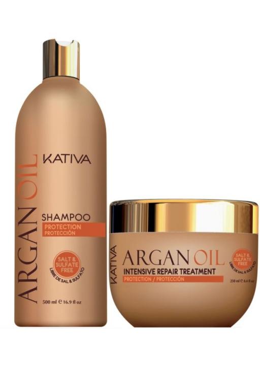 Champu + Mascarilla Kativa Repair Intensive Argan Oil