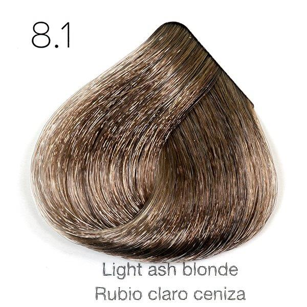 Tinte de pelo Sergilac con Keratina y Argan 8.1 Rubio claro ceniza 120ml