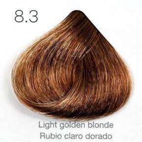 Tinte de pelo Sergilac con Keratina y Argan 8.3 Rubio claro dorado 120ml