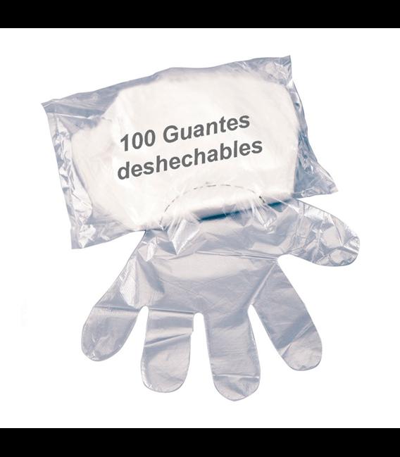 Guantes desechables polietileno (100 ud)