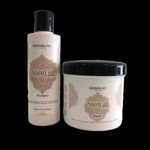 Champu + Mascarilla Repair Keratin - Argan Oil Sergilac