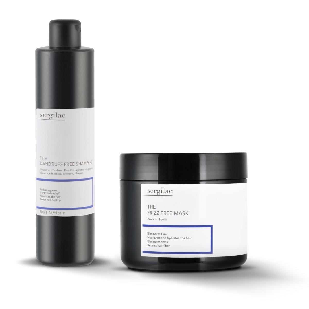 Lote Sergilac - The Dandruff Free Shampoo + Mask Free Frizz