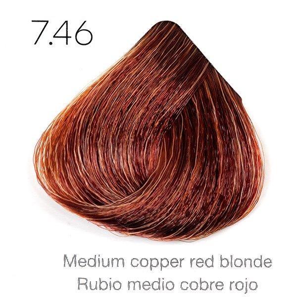 Tinte de pelo Sergilac con Keratina y Argan 7.46 Rubio medio cobre rojizo 120ml