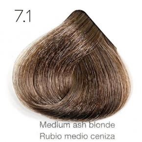 Tinte de pelo Sergilac con Keratina y Argan 7.1 Rubio medio ceniza 120ml