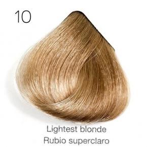 Tinte de pelo Sergilac con Keratina y Argan 10 Rubio super claro o platino natural 120ml