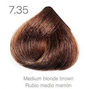Tinte de pelo Sergilac con Keratina y Argan 7.35 Rubio medio marron 120ml