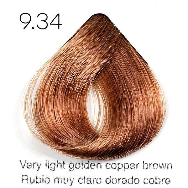 Tinte de pelo Sergilac con Keratina y Argan 9.34 Rubio muy claro dorado cobrizo 60ml