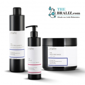 Lote Sergilac - Alisado The Braliz + Frizz Free Shampoo + Frizz Free Mask
