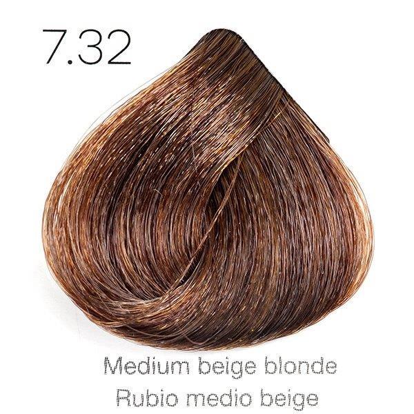 Tinte de pelo Sergilac con Keratina y Argan 7.32 Rubio medio beige 120ml