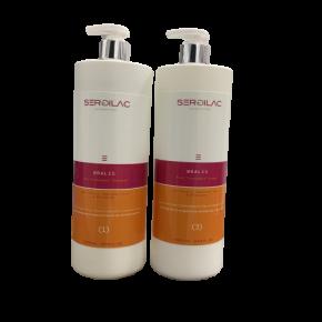 Lote Champu + Balsamo Alisado Acido Hialuronico y Keratina BRALIS HAIR - 1 litro