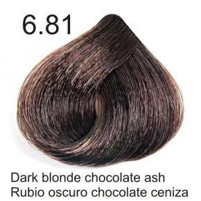 Tinte de pelo Sergilac con Keratina y Argan 6.81 Rubio oscuro marron chocolate ceniza 120ml