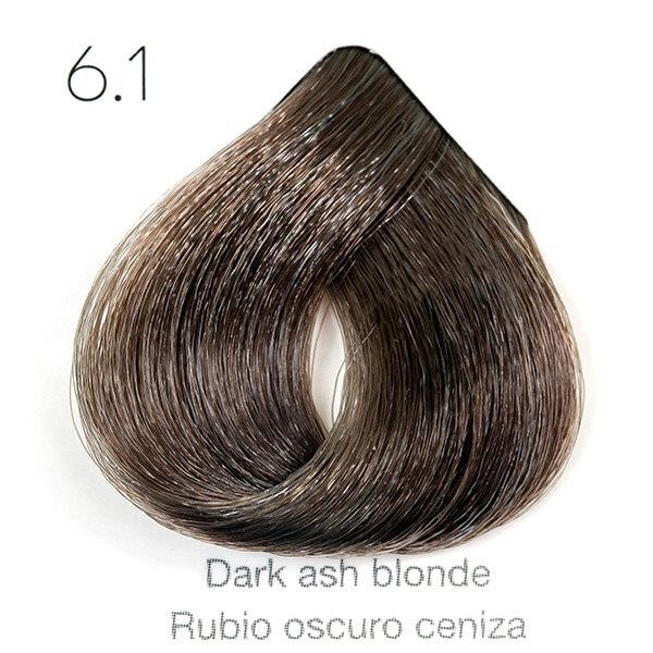 Tinte de pelo Sergilac con Keratina y Argan 6.1 Rubio oscuro ceniza 120ml