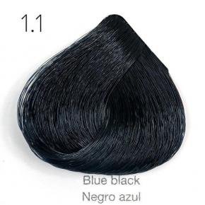 Tinte de pelo Sergilac con Keratina y Argan 1.1 - Color Negro Azul ceniza 120ml