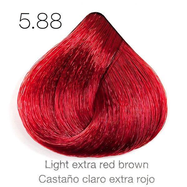 Tinte de pelo Sergilac con Keratina y Argan 5.88 Castaño claro extra rojo 120ml
