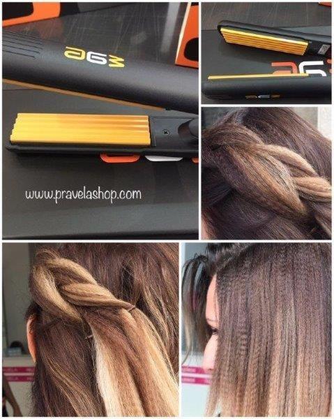 Plancha de peinado profesional A6W Volumen-Cabello