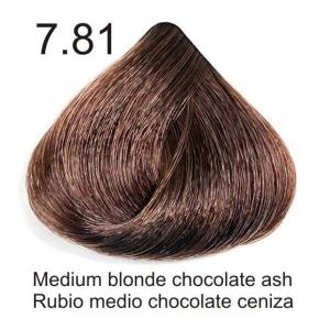 Tinte de pelo Sergilac con Keratina y Argan 7.81 Rubio medio marron chocolate ceniza 120ml