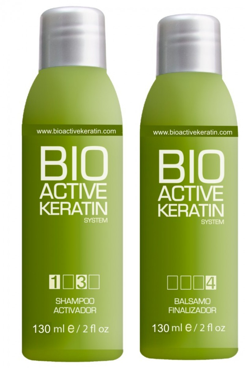 Champu + Balsamo Bio Active Keratin 130ml - Lote Post Tratamiento