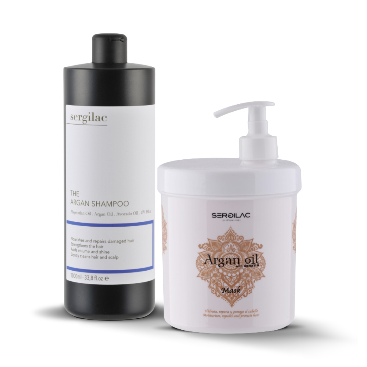 Lote Sergilac - The Argan Shampoo + Mask