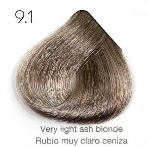 Tinte de pelo Sergilac con Keratina y Argan 9.1 Rubio muy claro ceniza 120ml