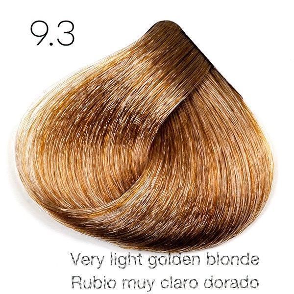 Tinte de pelo Sergilac con Keratina y Argan 9.3 Rubio muy claro dorado 120ml