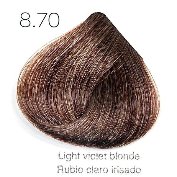 Tinte de pelo Sergilac con Keratina y Argan 8.70 (8.6) Rubio Claro marron irisado violaceo 60ml