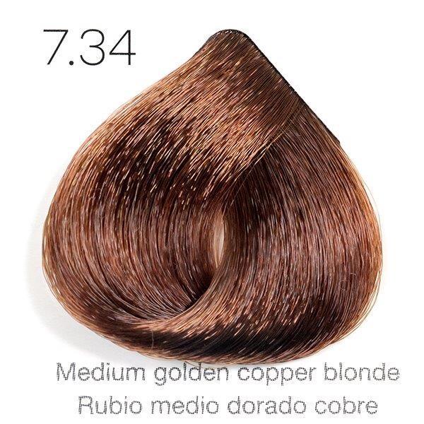 Tinte de pelo Sergilac con Keratina y Argan 7.34 Rubio medio dorado cobrizo 120ml