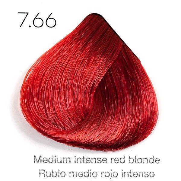 Tinte de pelo Sergilac con Keratina y Argan 7.66 Rubio medio rojo intenso 120ml