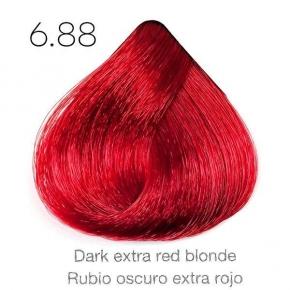 Tinte de pelo Sergilac con Keratina y Argan 6.88 Rubio oscuro extra rojo 120ml
